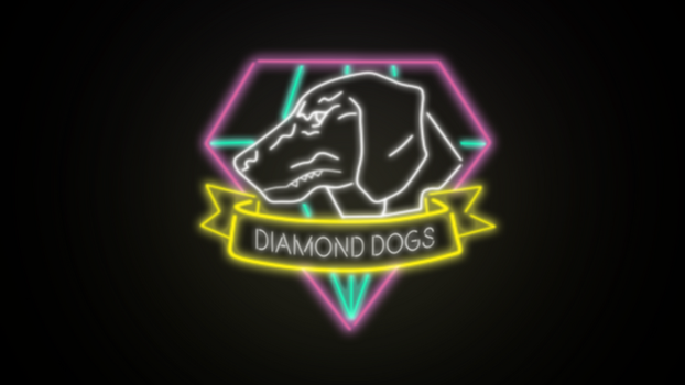Diamond Dogs Neon Sign Wallpaper by weeaqoo