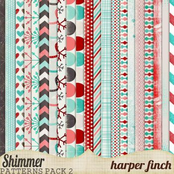 Shimmer, Pattern Paper Pack Two by harperfinch