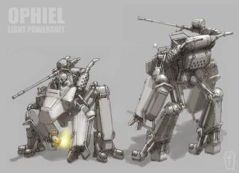 Ophiel Light Powersuit by MikeDoscher
