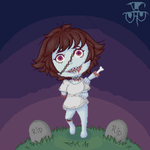 pixel art - zombie girl by joseghp