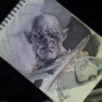 Azog the Defiler copic markers by G-manbg