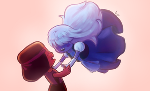 Ruby and Sapphire by Gingerko