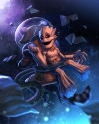 Adolescent Groot by capprotti