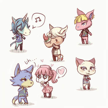 Acnl: Favorite Villagers by SimonAdventure