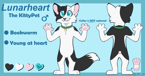 Lunarheart Reference Sheet 2017 by BreezyBunny