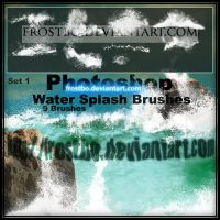 Water Splash Brushes PS SET 1 by FrostBo
