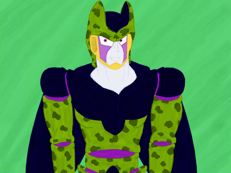 anouther Perfect Cell redraw (with Krita) by BrownEyedSaiyanGirl