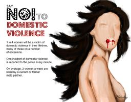 Say No to Domestic Violence by BERCLEY