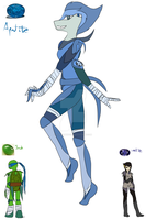 Leo and Karai Fussion - APATITE - TMNTCrystalGemAU by ITODrawings