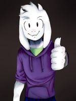 Beyondtale Asriel [Collab with Hermann] by Gigagoku30