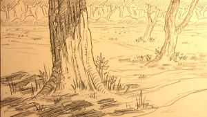 Forest Background For Manga by MikeKoizumi