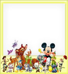 Cartoon Character Frame PSD by Anavrin2010