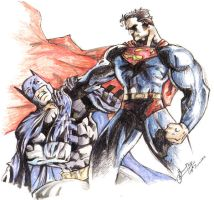 Batman Vs Superman by libran005