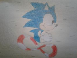 Classic Sonic Drawing by LuigiHorror64