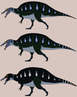 Three Spinosaurus by StygimolochSpinifer