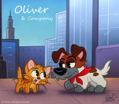 50 ChibisDisney: Oliver and Co by princekido