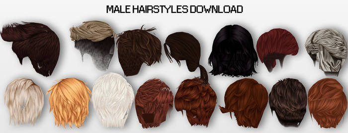 MMD Male Hairstyles DL by UnluckyCandyFox