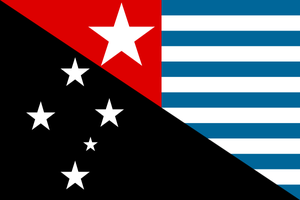 Unification flag of New Guinea by hosmich