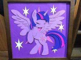 Twilight Sparkle Shadow Box by DraconidsMXZ