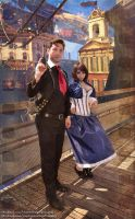 In Columbia : Booker and Elizabeth Cosplay by CharlightArt