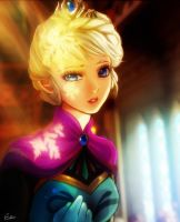 Queen elsa by Esther-Shen