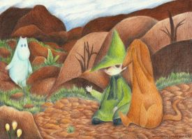 Snufkin's thoughts by Mashimoshi