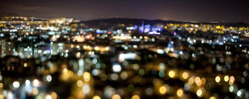 Edinburgh Bokeh Castle by BadAlki