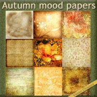 Autumn Mood papers by VianneScraps