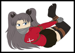 Fate Stay Night: Rin Captured Colored by ED3765
