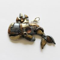 Steampunk Whale Pendant by hatchinghut