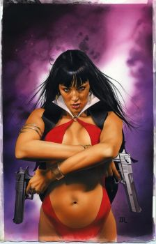 Vampirella 6 Cover Painting by mikemayhew