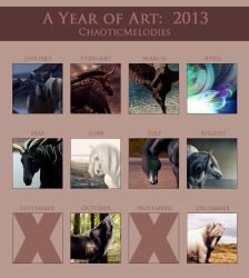 A Year of Art by AstralPaint