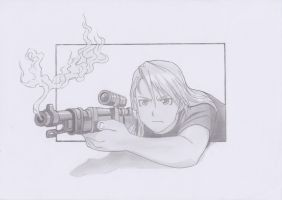 Riza Hawkeye - Sketch by MonsterInTheFridge