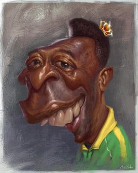 Pele Caricature by AZendron