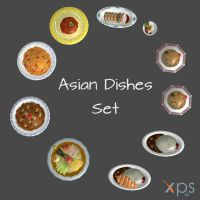 Asian Dishes Set by KoDraCan