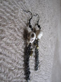 Skelly Earrings 2 by Blue-Moon-Maiden