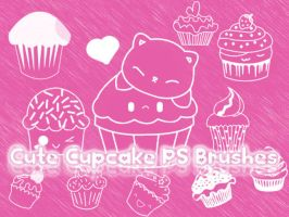 Cute Cupcake Photoshop Brushes by petermarge