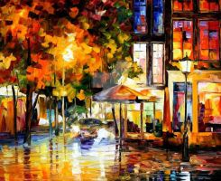 The Windows Of Amsterdam by Leonid Afremov by Leonidafremov