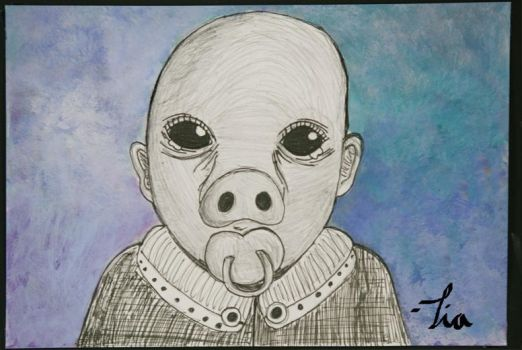 The crying human baby pig by xx-kittymeowmeow-xx