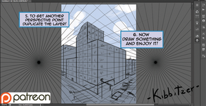 Perspective grid tutorial with Photoshop cs6 by Kibbitzer