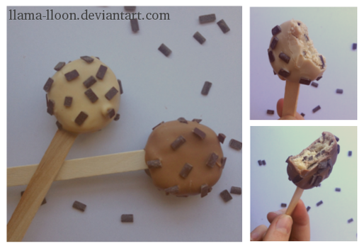 Cookie Dough Pops by Llama-Lloon