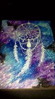 Dream Catcher in Space Painting on wood by KaylaMarie831