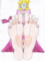 Princess Peach Big Feet (Old Drawing) by LeinadWorks