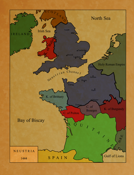 Map of Neustria (Fictional) by Zelros