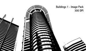 Buildings image pack - 600 DPI by screentones