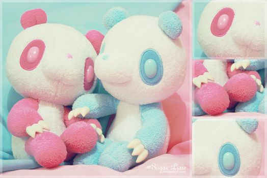 Panda Gloomy Bears in Love by sugar-pixie