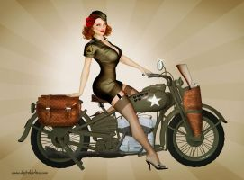 Sgt. Davidson - US Army Harley Pinup by seanearley