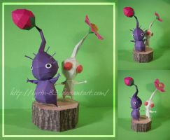 White and Purple Pikmin by Lyrin-83