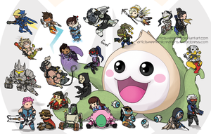 Pachimari and Friends - Overwatch by SweetEmii