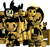 (Blender Internal) Bendy And The Ink Machine Pack by AustinTheBear